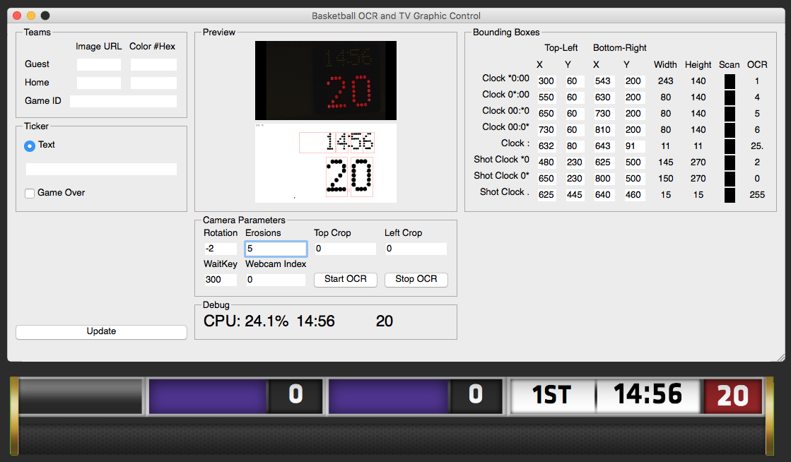 Real-time scoreboard digit recognition (OCR) with a webcam | XY Kao