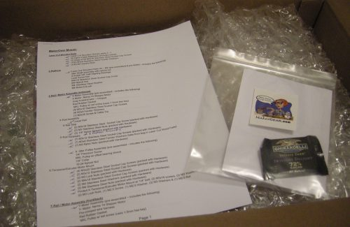 First thing opened: inventory note and goodies